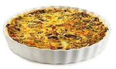 Fresh mushrooms are used for mushroom quiche because they taste very aromatic. Mushroom Quiche, Mushroom And Onions, Stuffed Mushrooms, Stuffed Peppers, Edam Cheese, Short Pastry, How To Cook Ham, Pavlova, Salad
