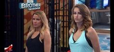 """Big Brother"" 17 houseguests Shelli (L), the current Head of Household, and Becky are seen here."