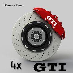 Kit 4 stickers étrier frein VW Volkswagen Golf GTI