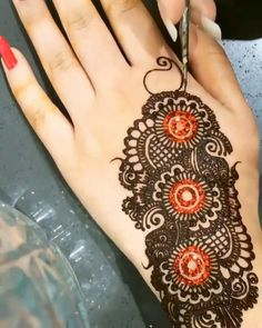 Hello everyone, I have created a beautiful henna design for you guys, that will give you lots of praises . Henna Designs Arm, Beginner Henna Designs, Mehndi Designs For Fingers, Stylish Mehndi Designs, Unique Mehndi Designs, Mehndi Design Pictures, Beautiful Mehndi Design, Latest Mehndi Designs, Henna Tattoo Designs