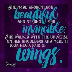 You are a wonder!  #broken #beautiful #strong #invincible #walked #universe #shoulders #wings #conquerors #wonder #amazing #angel #seraph #lovethis #swoonquotes #qotd #quoteoftheday #quotes #quote #swoonweekly #swoonworthy #swoon #youcandoit