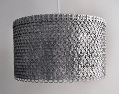 Soda can drum shade. Visit the etsy shop Zipper8Lighting