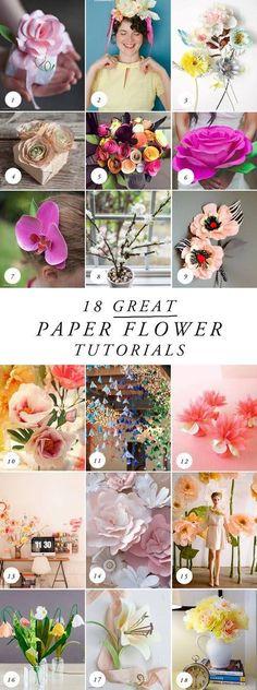 18 MORE best paper flower tutorials