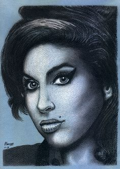 Portrait - Amy Winehouse by Marcos Jorge Rodrigues