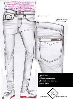 Biker Jeans, Denim Pants, Denim Fashion, Fashion Flats, Fashion Sketchbook, Pattern Fashion, Look, Menswear, Data Sheets