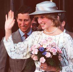 1983 06 21 Prince Charles & Princess Diana leaving Chateau Laurier Hotel, Ottawa