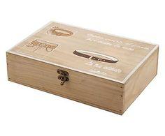Caja para cinturones en madera - natural