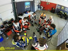 Vale with VR46 Sky Academy at Misano World Circuit