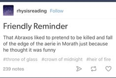 ToG-Abraxos------Abrazos I see what you did there<lol Throne Of Glass Books, Throne Of Glass Series, A Court Of Wings And Ruin, A Court Of Mist And Fury, Book Memes, Book Quotes, I Love Books, Good Books, Queen Of Shadows