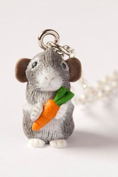 Custom Guinea Pig Necklace. Made to look just like your guinea pig, for you to treasure forever. The perfect gift.  www.gizzysgifts.co.uk
