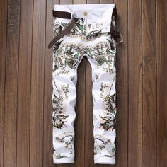 YUNY Mens Spell Color Cargo Pants Harem Relaxed Fit Casual Trousers Two XL
