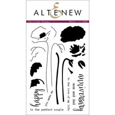 Altenew PAINTED POPPY Clear Stamp Set AN135