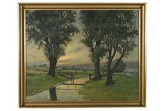 Landscape by Hans Hilsoe, 1920 on OneKingsLane.com