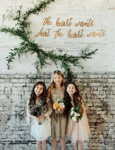 "flower girls + ""the heart wants what the heart wants"""