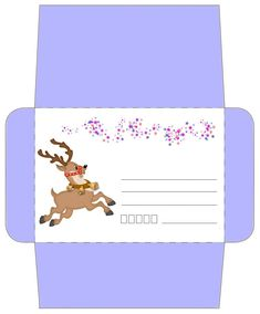 Enveloppe Noël gratuite à imprimer pour les enfants Christmas Card Pictures, Christmas Cards, Xmas, Free Printable Stationery, Money Envelopes, Diy Envelope, Christmas Stationery, Planner Pages, Christmas Printables