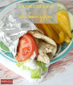 Homemade Chicken Gyros from MomAdvice.com.