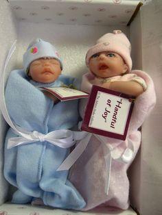 "Ashton Drake 2 tiny 5"" Heavenly Handfuls newborn baby dolls Joy Peace #Dolls"