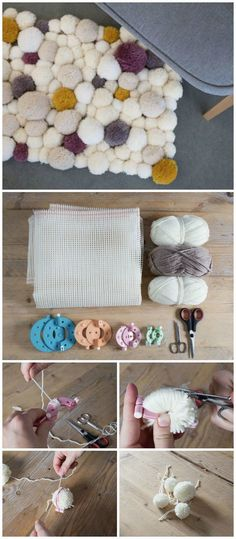 cheap DIY projects for home decoration.That will prove very beneficial to build up a well-decorated home.DIY Adorable Pom Pom Rug # cheap DIY Decorating Cheap DIY Projects For Your Home Decoration Affordable Home Decor, Unique Home Decor, Home Decor Styles, Cheap Home Decor, Pom Pom Rug, Diy House Projects, Diy Décoration, Contemporary Home Decor, Handmade Home Decor