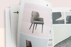 """Catalogue design for Anesis. Anesis, meaning """"comfort"""" in Greek, is a designing and manufacturing company of contemporary furniture, based in Thessaloniki, Northern Greece. Inspiration Boards, Graphic Design Inspiration, Graphic Design Typography, Branding Design, Catalog Design, Editorial Design, Portfolio Design, Contemporary Furniture, Furniture Design"""