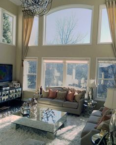 My living room, complete with my favorite Berhardt mirrored coffee table Home Living Room, Living Room Decor, Mirrored Coffee Tables, Inspire Me Home Decor, House Rooms, My Dream Home, Mtv, Home Interior Design, Future House