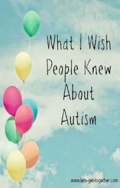 A mom with 15-year-old son with autism shares one thing she wishes people understood and one thing she wishes people would do. #asd #autism
