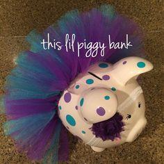 Headband w/flower piggy with short tutu and polka dots on Etsy, $40.00
