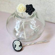 Embellished bobby pins.