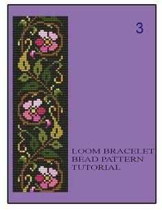 Bead Loom Vintage Floral Border 1 2 3 от MyTreasureIsland на Etsy