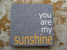 Hey, I found this really awesome Etsy listing at https://www.etsy.com/listing/128778303/you-are-my-sunshine-12x12-canvas