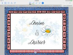 Denim and Daisies Horizontal Layout Blotter Style Paperless Planner Designed to work with Apple and Android apps which allow for PDF annotation and layout. Suggested apps: Apple: GoodNotes, Metamoji Notes Android, Windows: Metamoji Notes There are other apps which may work as well, but these have been tested and work well. Note: Hyperlinks will work in GoodNotes, but are not supported in Metamoji Notes. However, both apps allow for decorating, typing and writing on the spreads. GoodNot...
