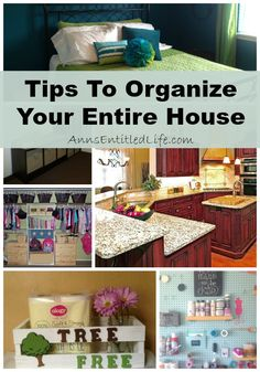 Tips To Organize Your Entire House; organizing the whole house can be a daunting task. But with these ideas and advice, whole house organization is made easy. From kitchen to bedroom to mudroom to bathroom, here are some excellent tips to organize your entire house! http://www.annsentitledlife.com/library-reading/tips-to-organize-your-entire-house/