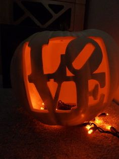 Love Carved Into A Pumpkin If Getting Married In Fall Autumn Time This Would Be Lovely Mood Lit Decor For The Wedding Party