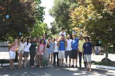 Wonderful day to spend with Camp Kesem at Stanford families and counselors. We decorated the Branches of Bryant with handmade paper mache Blue Dots to honor cancer warriors everywhere with hope, healing, and health. The Blue Dots were created by a group of third to sixth grade campers during their week at Camp Kesem this past June.