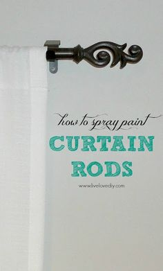 Curtain Rods 10 Spray Paint Tips: what you never knew about spray paint (like how to save money by buying curtain rods at thrift stores and spray painting them! So good to know! Check this out! Spray Paint Tips, Bronze Spray Paint, Spray Paint Furniture, Painting Furniture, Door Furniture, Painting Trim, Painting Wallpaper, Spray Painting, Wallpaper Murals
