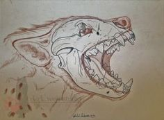 Hyena Skull 2 by NightTracker on DeviantArt Animal Sketches, Animal Drawings, Drawing Sketches, Art Drawings, Animal Skull Drawing, Animal Skeletons, Animal Skulls, Hyena Tattoo, Emotional Drawings