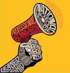 Type work for Community Care magazine by Studio Oscar Typography Art, Lettering, Graphic Design Illustration, Digital Illustration, Obey Art, Creative Poster Design, Blackwork, Magazine Art, Word Art
