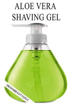 ALOE VERA GEL DE AFEITAR, combine una parte de aceite de oliva con tres partes de gel de aloe vera y gotas de aceite esencial. Mezclar bien y guardar en un recipiente.