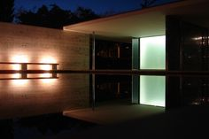 Barcelona Pavilion / Mies van der Rohe. As part of the 1929 International Exposition in Barcelona.