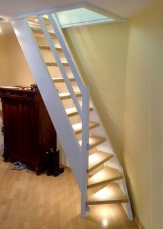 An attic ladder is a retracting stairs that pulls down from the ceiling to offer. An attic ladder Attic Staircase, Loft Stairs, Attic Ladder, House Stairs, Staircase Design, Loft Ladders, Staircase Ideas, Attic Bedroom Small, Attic Rooms