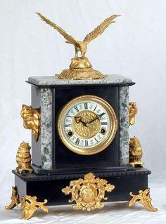Antique Mantle Clock, Mantel Clocks, Old Clocks, Wooden Clock, Antique Clocks, Large Vintage Wall Clocks, Large Clock, Classic Clocks, Wall Clock Online