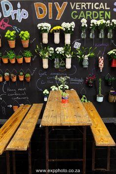Vertical blackboard garden at the 2013 Cape HOMEMAKERS Expo