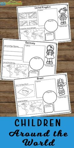 FREE Children Around the World Printables