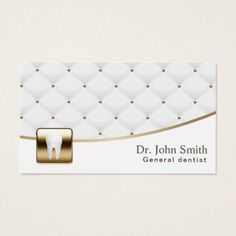 Dentist Dental Care Luxury Quilted Professional Business Card