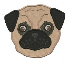 Pug Applique - 3 Sizes! | Tags | Machine Embroidery Designs | SWAKembroidery.com Applique for Kids