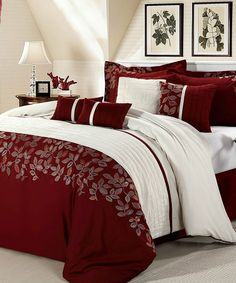 Lovely Black and White and Red Bedding