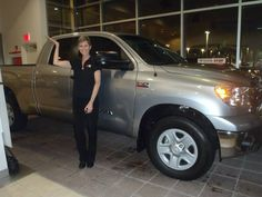 Janet Buckner showing off her gorgeous 2013 Tundra! Welcome to the #DavidMaus #Toyota family! #WhateverItTakes