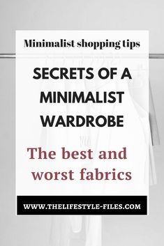 A beginner's guide to fabrics fashion / minimalist fashion / minimalism / slow fashion / style tips