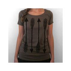 Arrow shirt. ladies scoop t-shirt. brown.