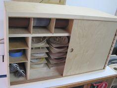 Sandpaper cabinet finished