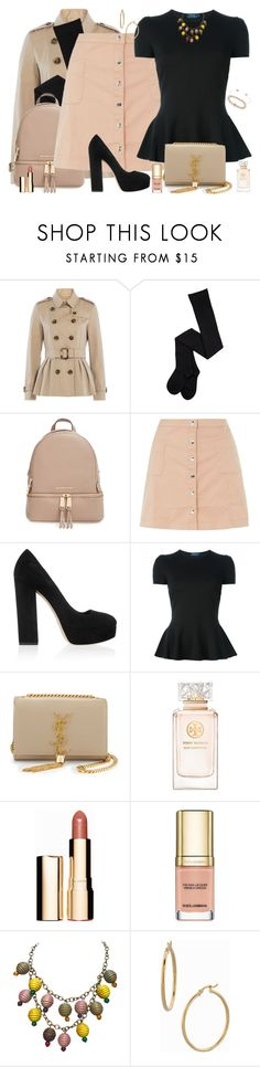 """""""Calculated to be Casual"""" by winscotthk ❤ liked on Polyvore featuring Burberry, MICHAEL Michael Kors, Innocence, Miu Miu, Polo Ralph Lauren, Yves Saint Laurent, Tory Burch, Clarins, Dolce&Gabbana and Bony Levy"""